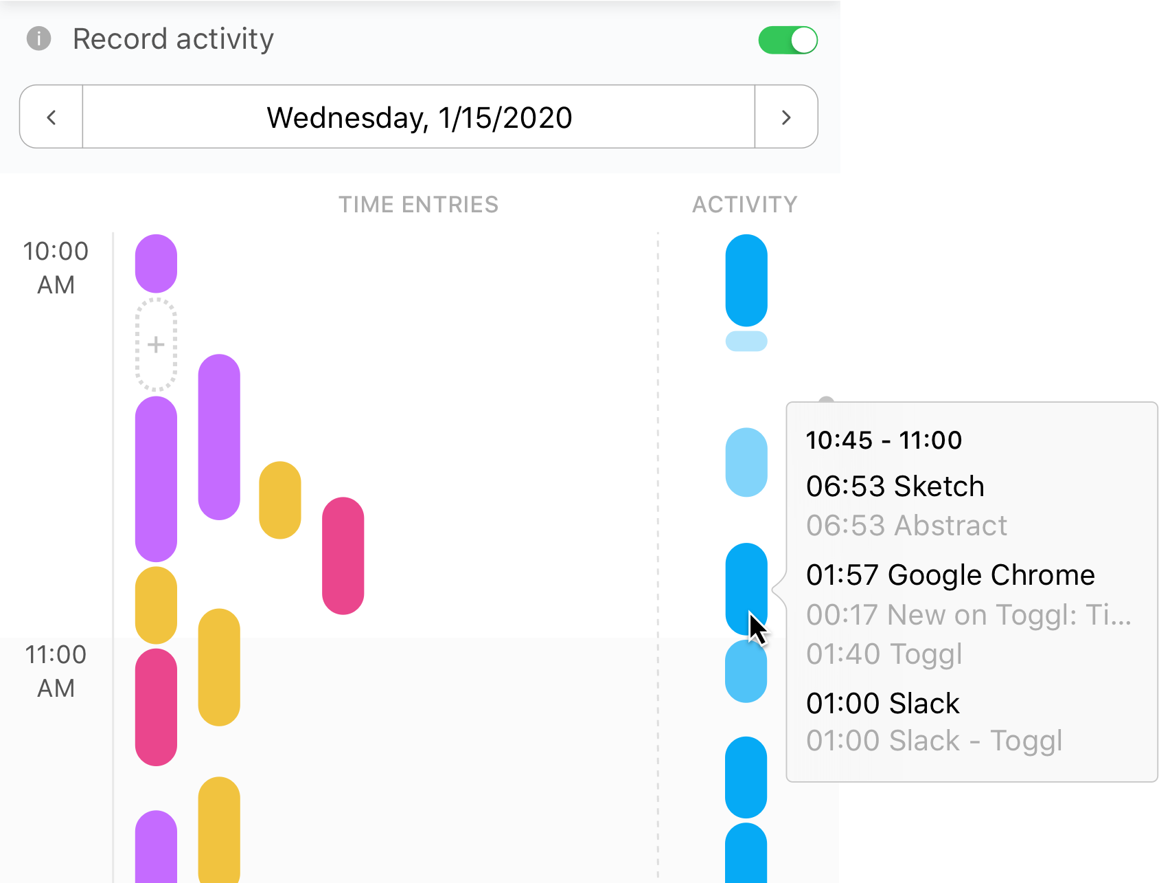Timeline View