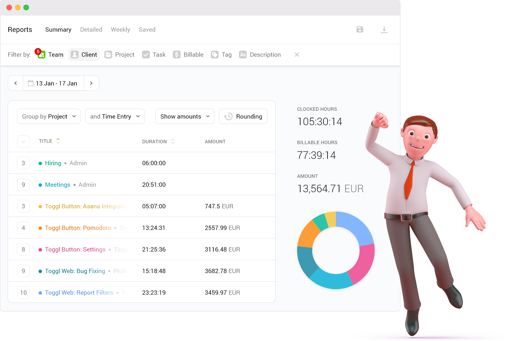 Toggl Track can help you fill out your balance sheet.