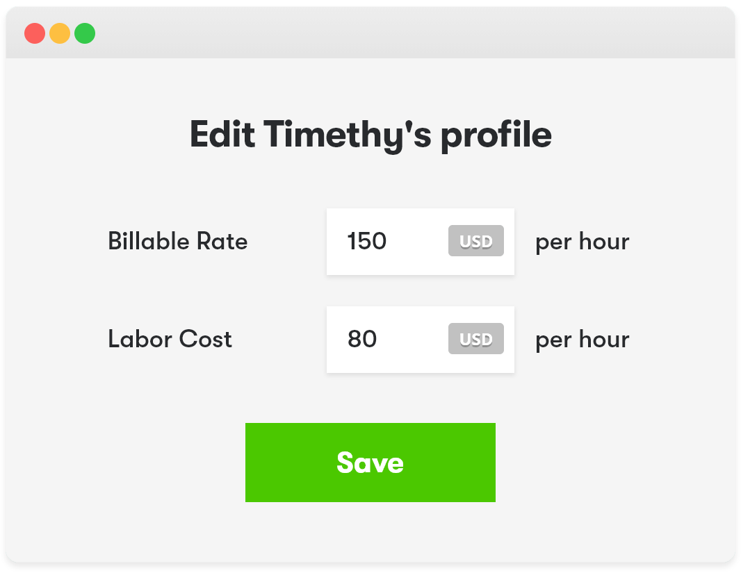 Assign billable rates and user costs with Toggl Track