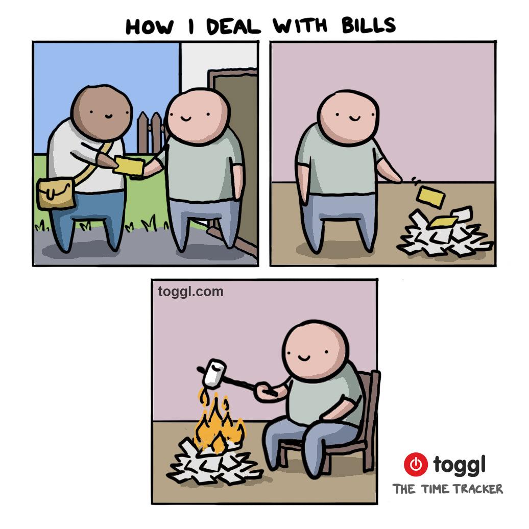 Dealing with Bills Comic