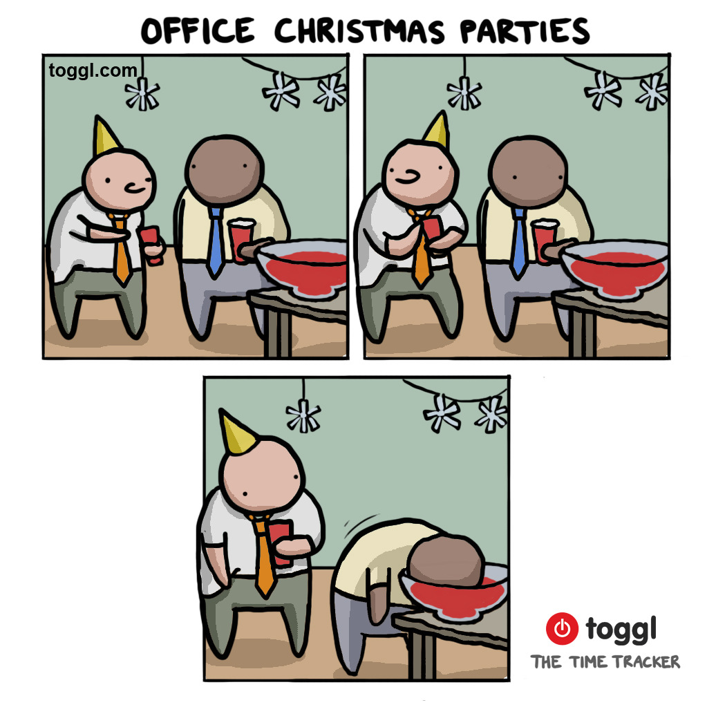 Office Christmas Party Comic