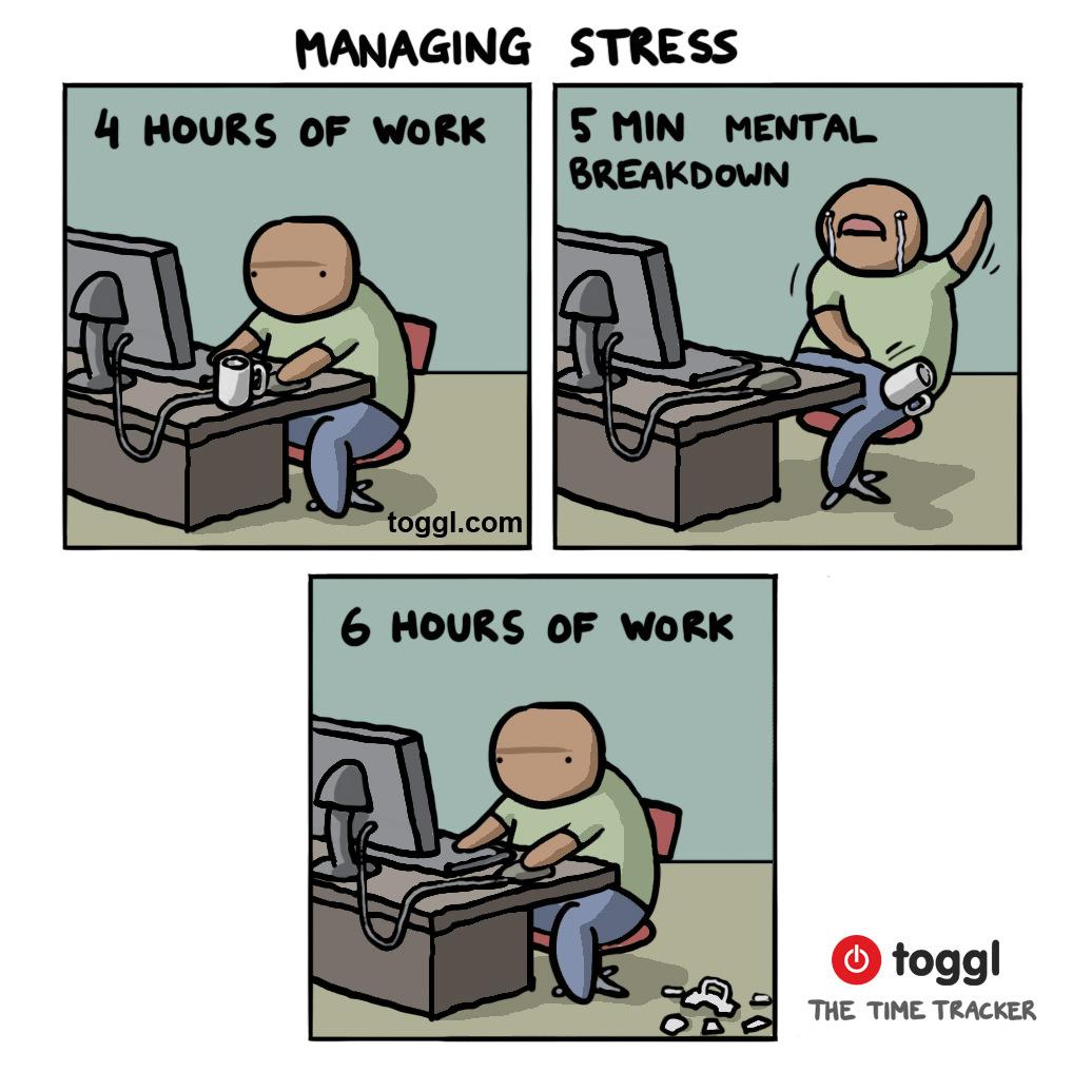 Managing Stress Comic