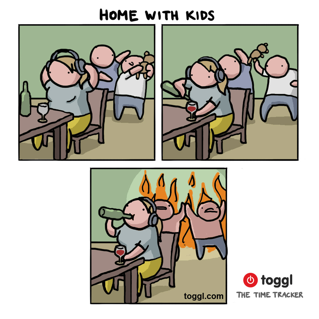 Working From Home with Kids Comic
