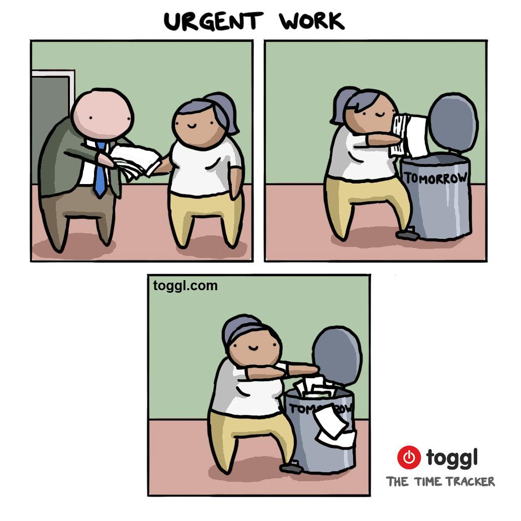 Urgent Work Comic