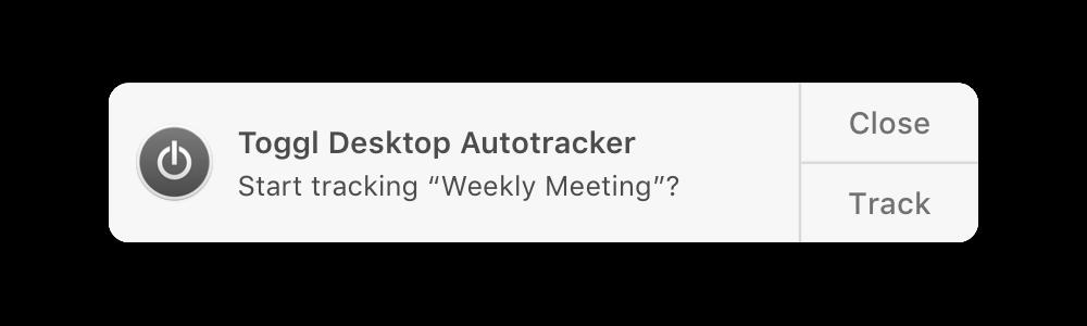 Desktop app autotracker