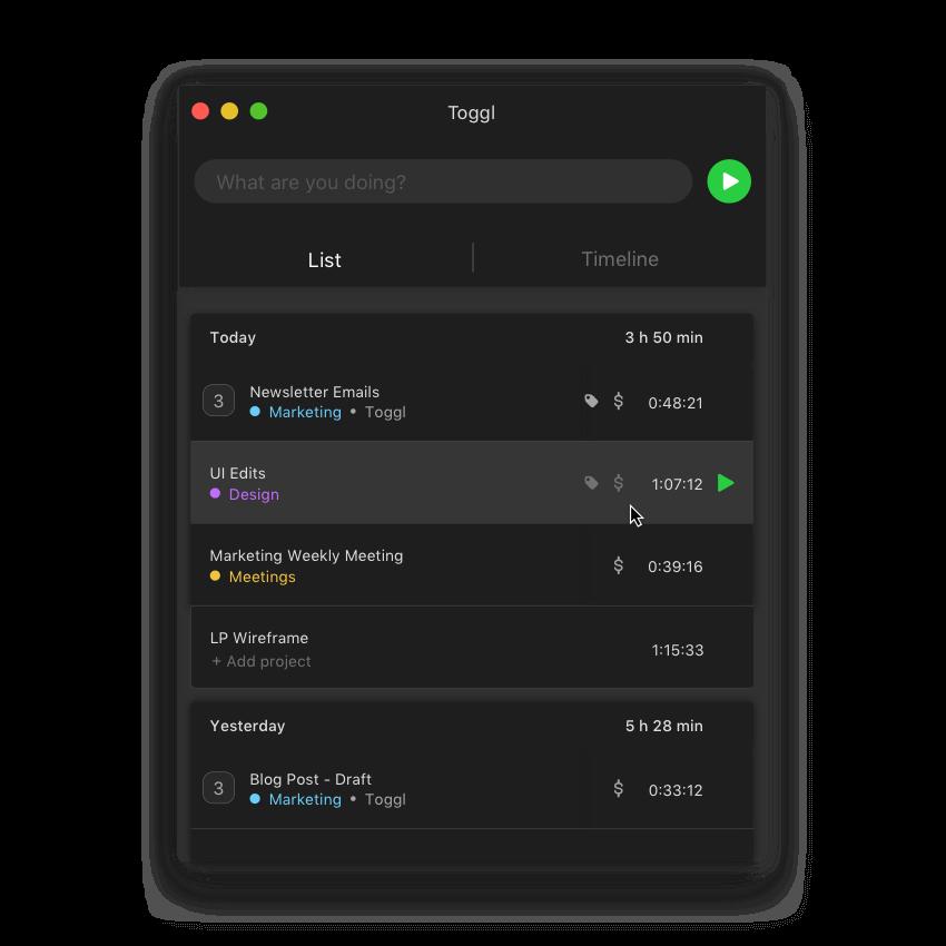 Timer app dark mode for Mac