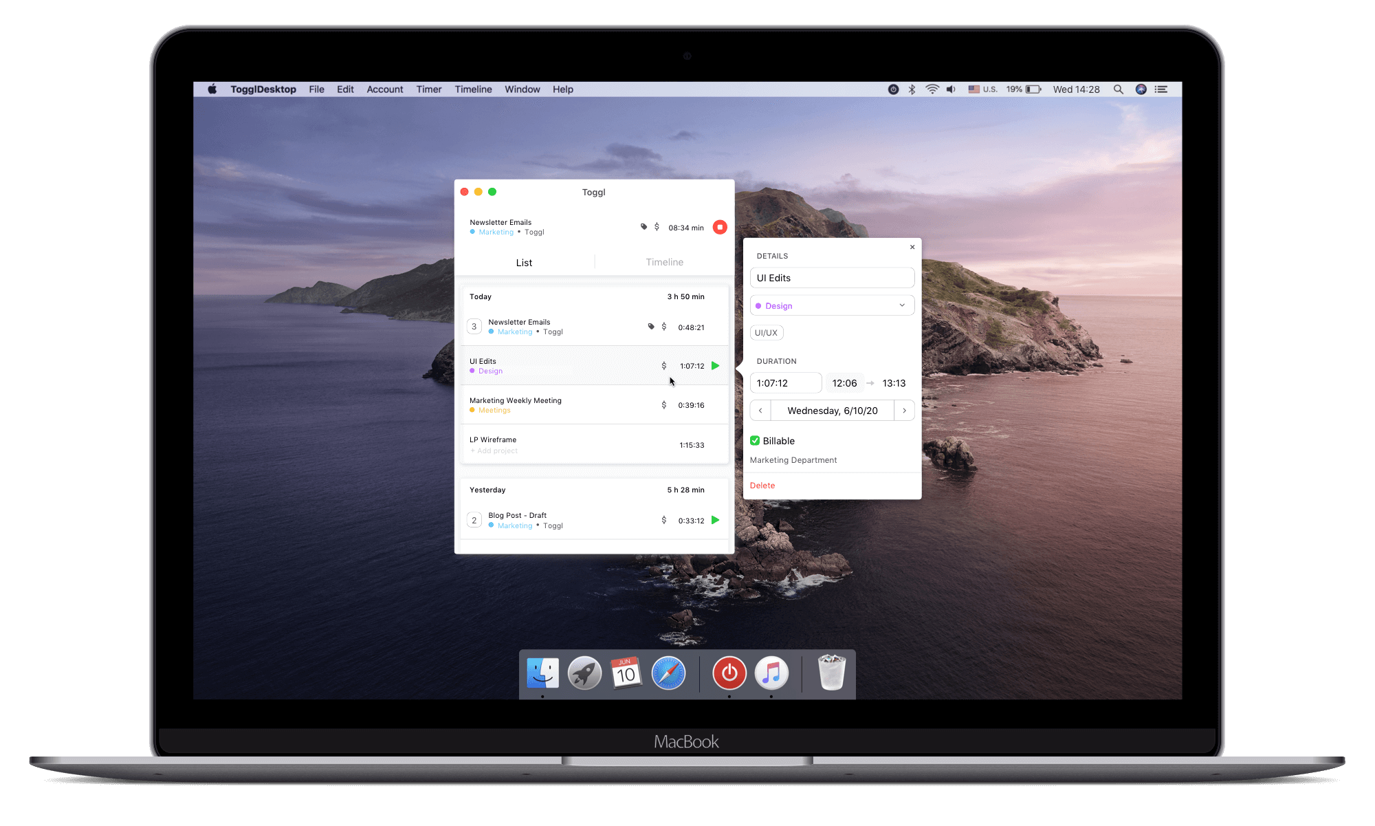 Free time tracker for Mac