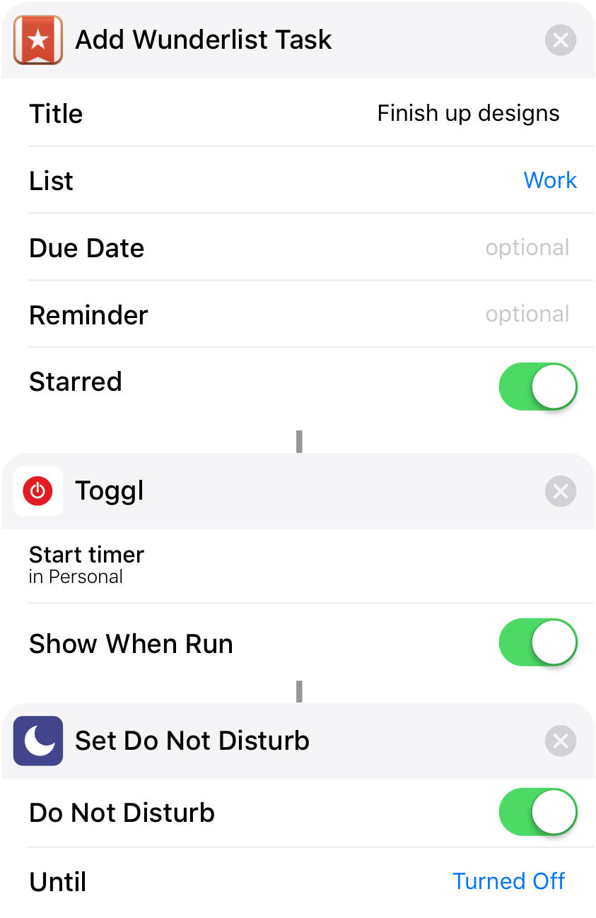 Use shortcuts with Toggl Track