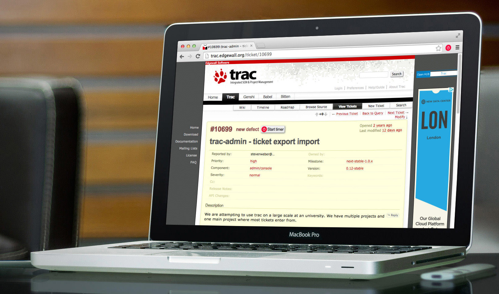 Trac Time Tracking Integration