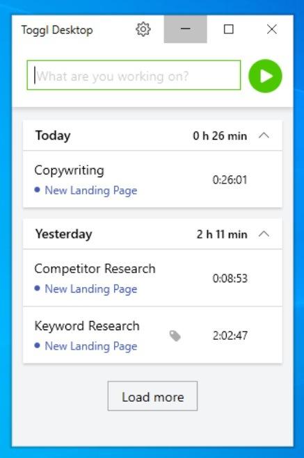 Set up Windows desktop time tracker app: Step 2