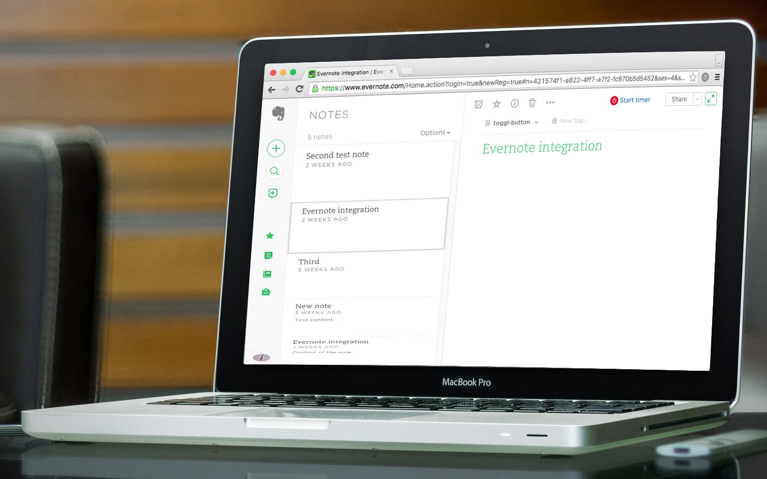 Evernote Time Tracking Integration