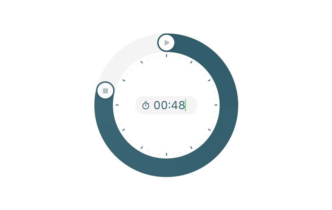 Enter time entries manually with Toggl Track Mobile
