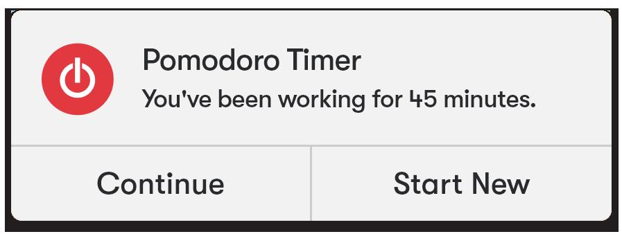 Toggl Track Desktop app Pomodoro Timer setting
