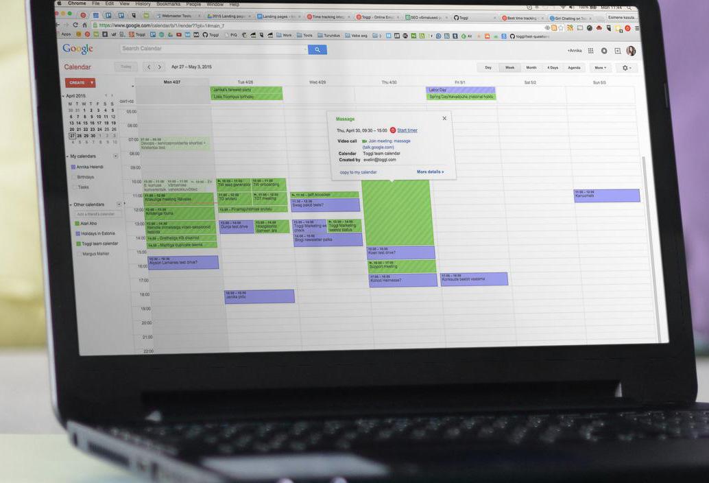 Google Calendar Time Tracking Integration