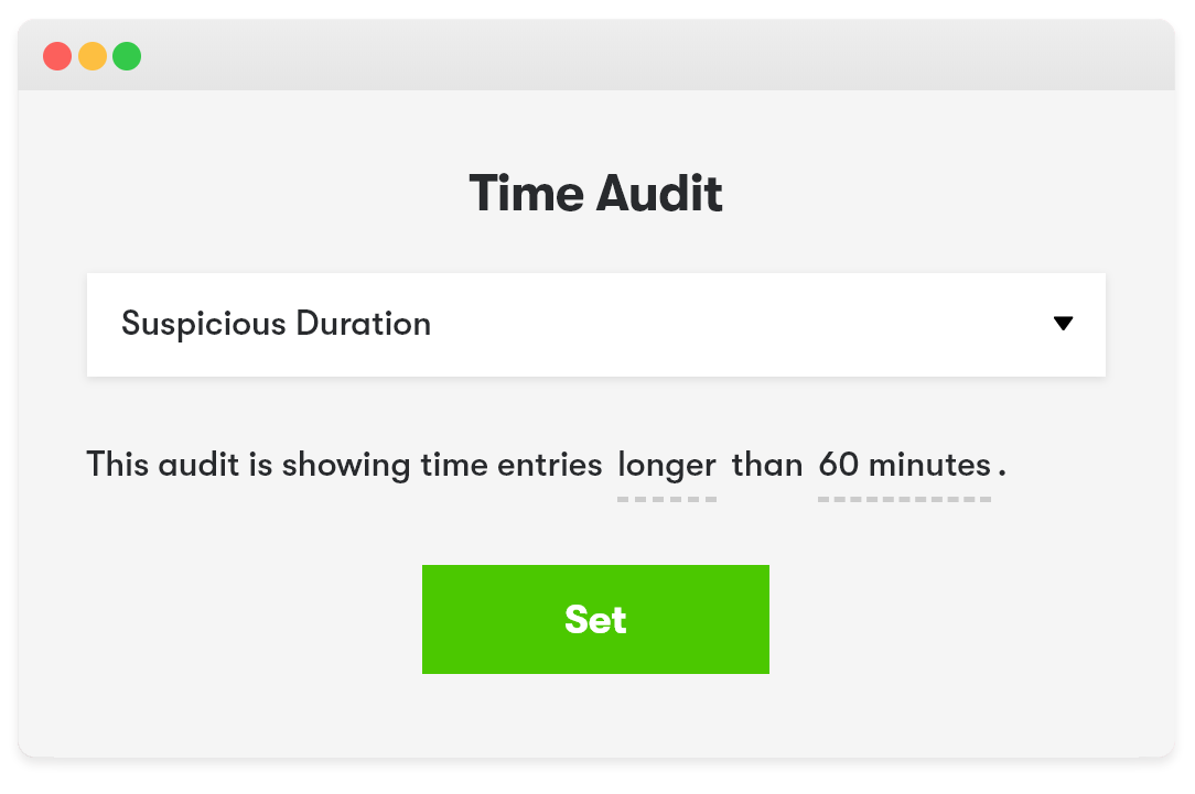 Time Audits with all time tracked by your team