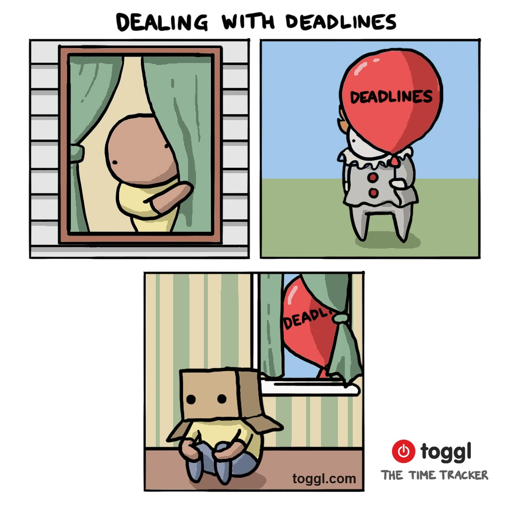 Dealing with Deadlines Comic