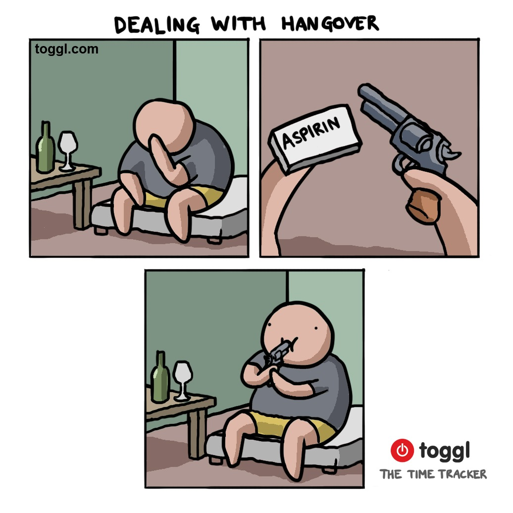 Dealing with Hangovers Comic