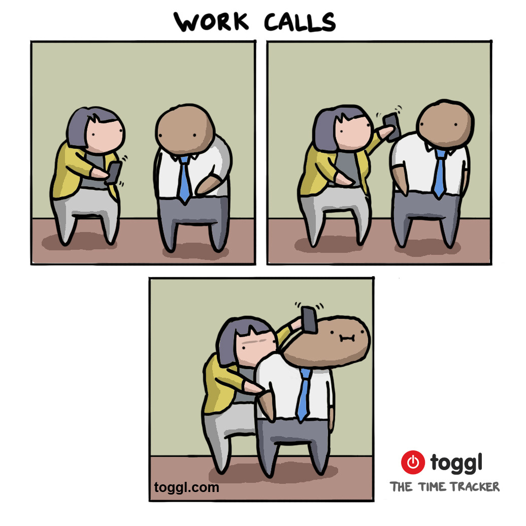 Answering Phone Calls Comic
