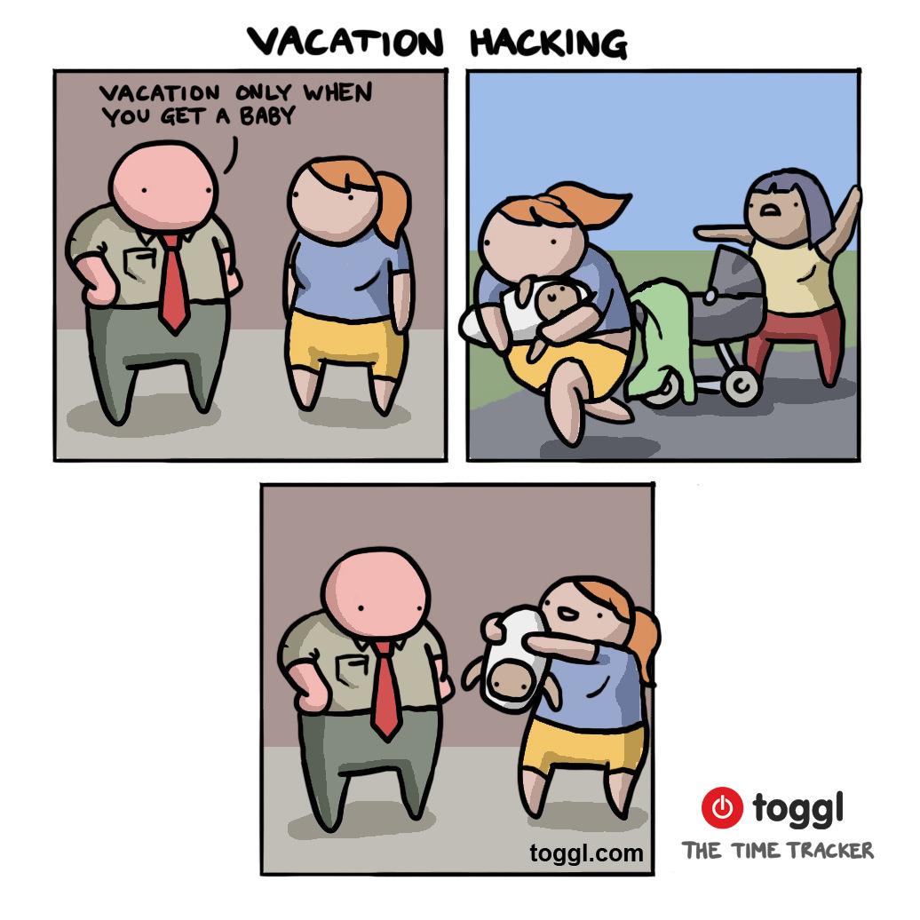 Vacation Hacking Comic