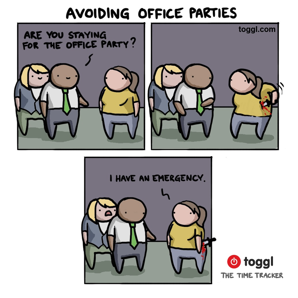 Avoiding Office Parties Comic
