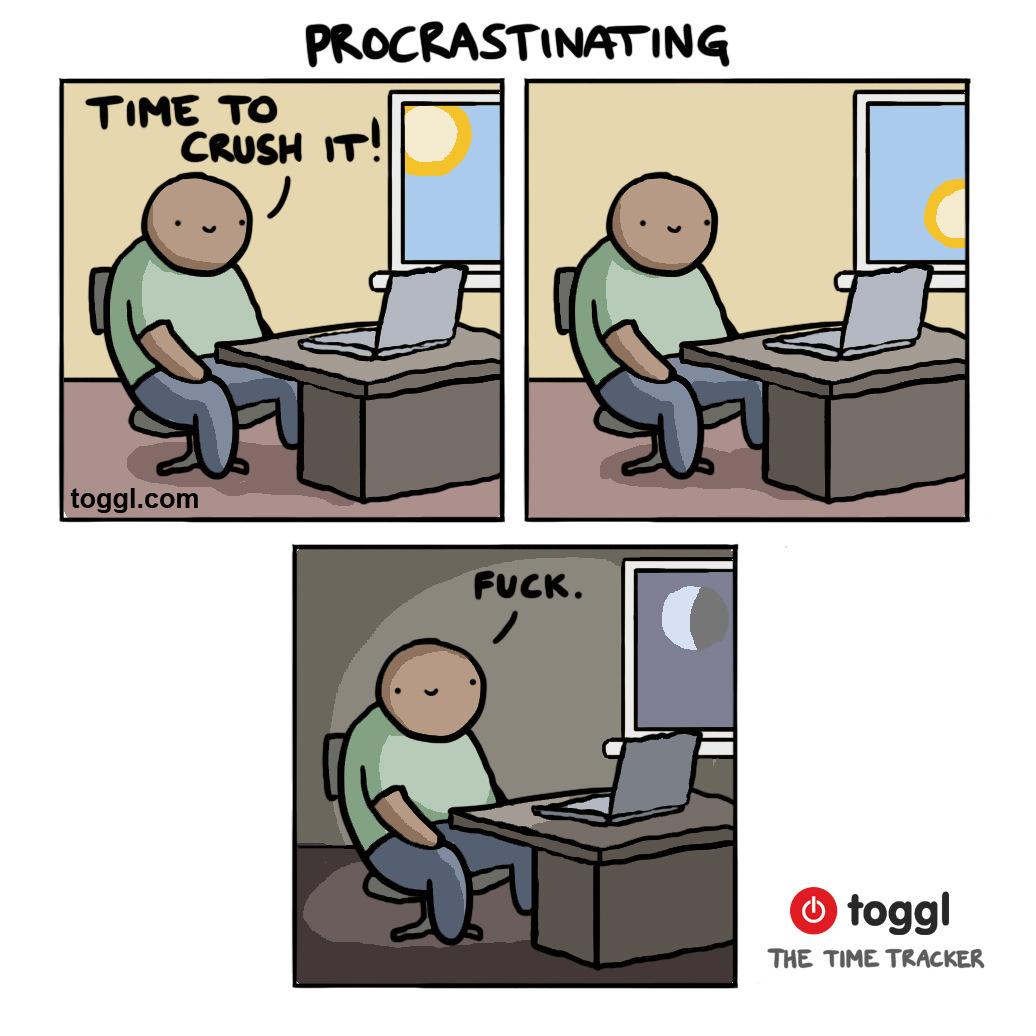 Procrastinating Comic