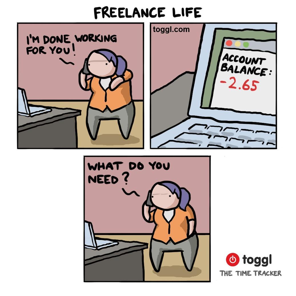 Life of A Freelancer Comic