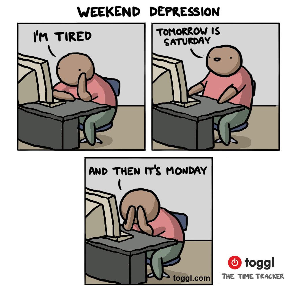 Weekend Depression Comic