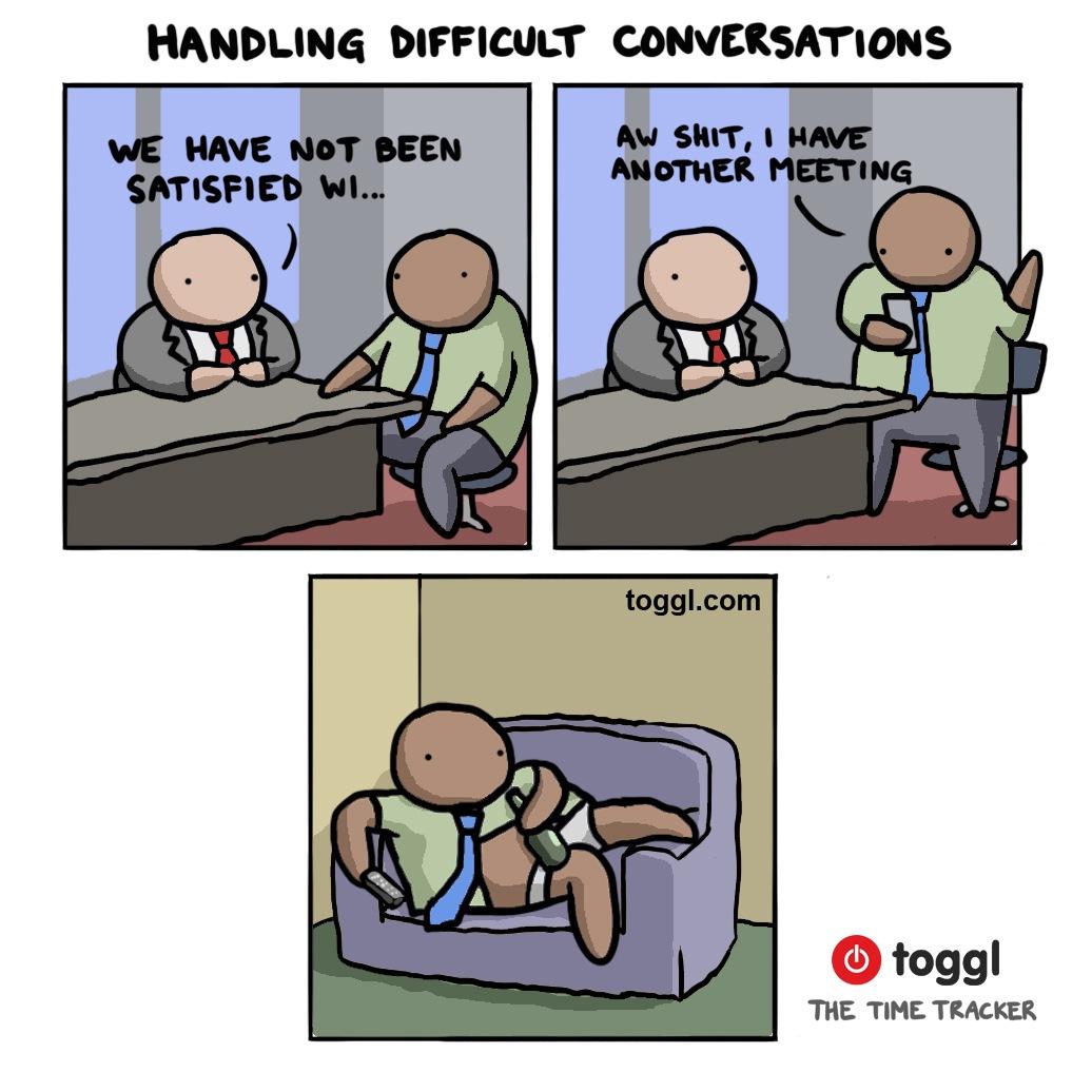 Handling Difficult Conversations Comic