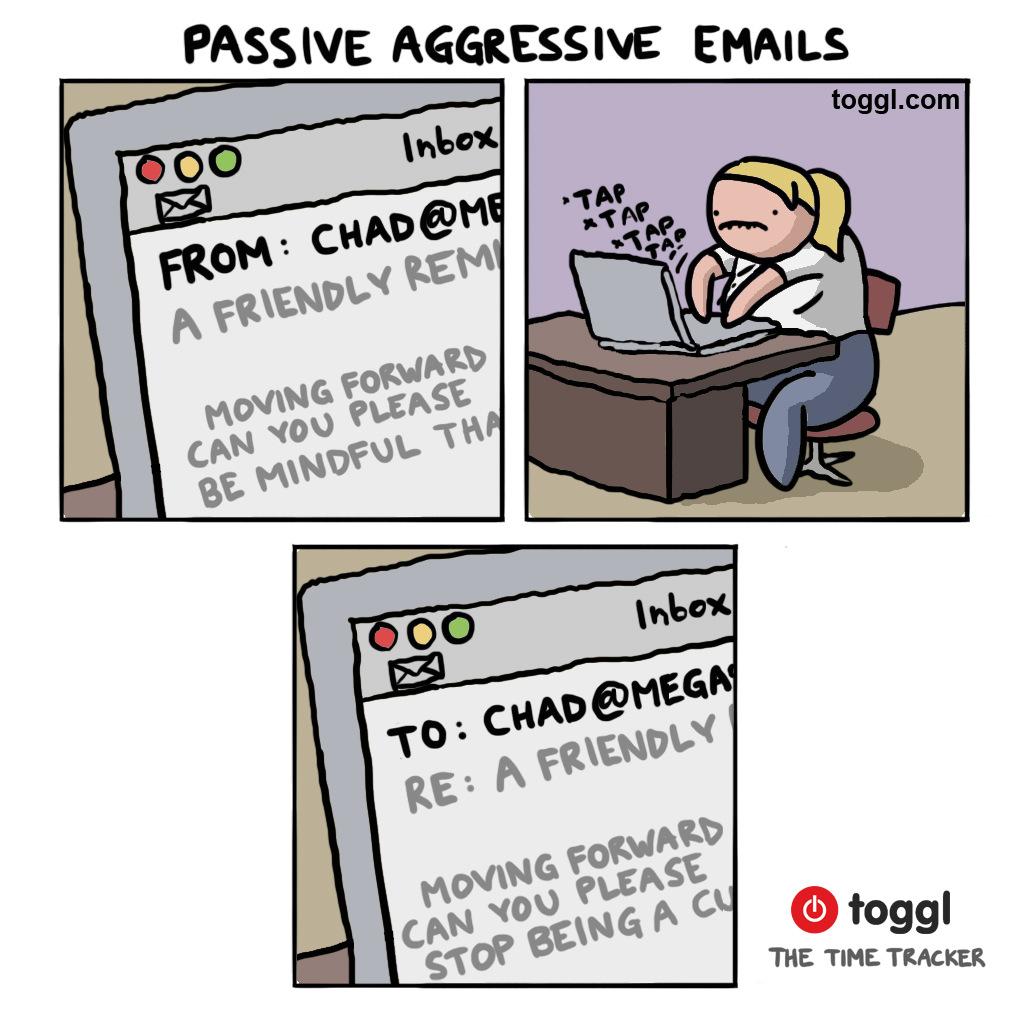 Passive Agressive Emails Comic
