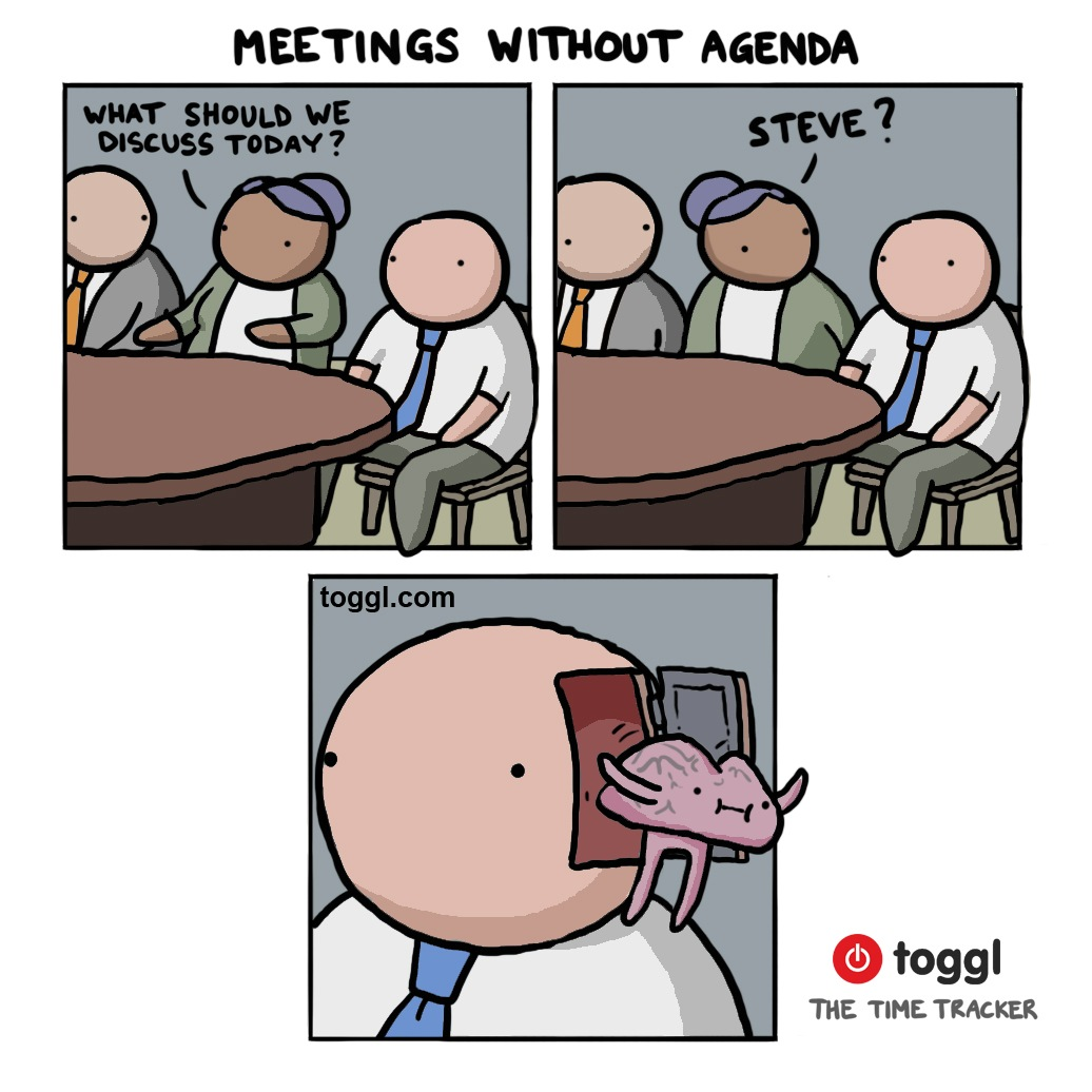 Meetings Without Agenda Comic