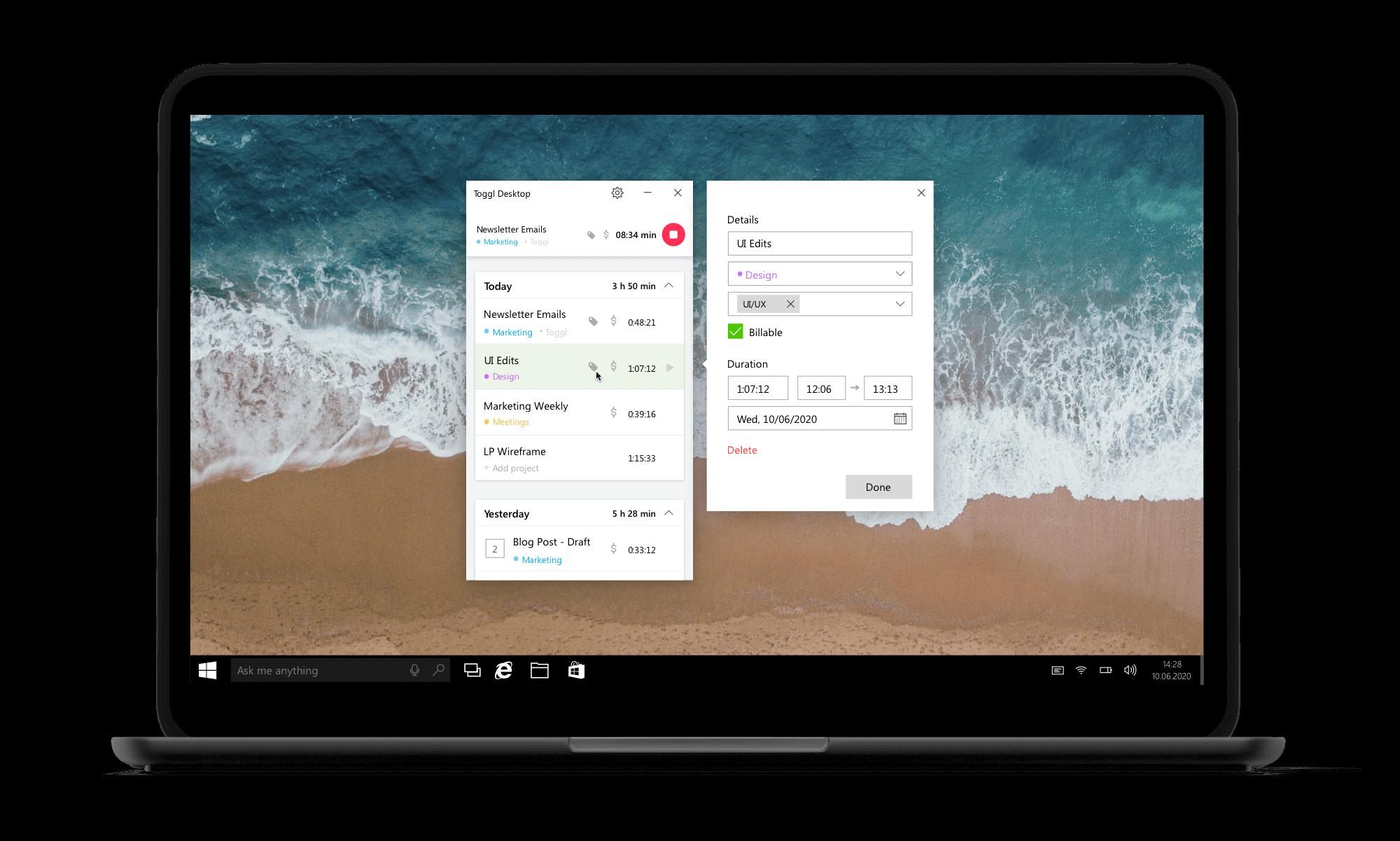 Free timer app for Windows
