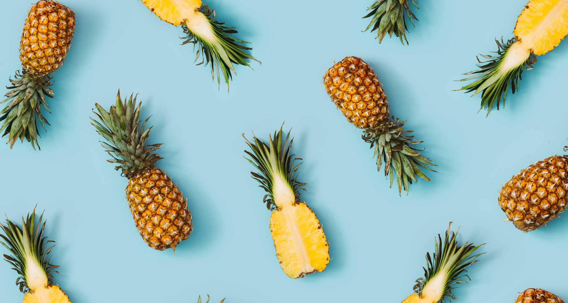 Hero background image of many pineapples