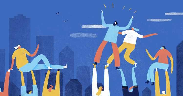 Illustration of team bonding