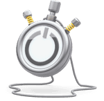 3D illustration of stopwatch with a Toggl Track icon