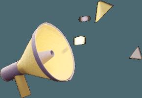 Megaphone emitting sound