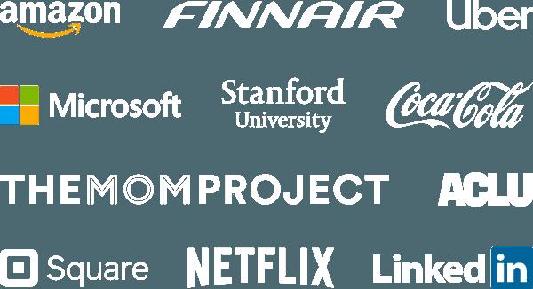 Companies that use Toggl Track: Amazon, Finnair, Uber, Netflix, Stanford University, Coca Cola, The Mom Project, ACLU, HEY.com, Microsoft, LinkedIn