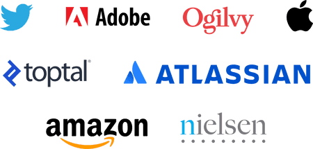 Logos of companies that use Toggl Track