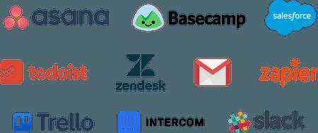 Tools: Asana, Basecamp, Salesforce, Todoist, ZenDesk, GMail, Zapier, Trello, Intercom, Slack