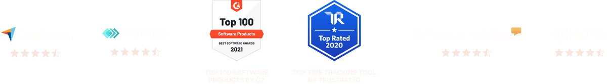 Toggl Track reviews: 4.5 out of 5 stars in Capterra, GetApp, Software Advice and GCrowd