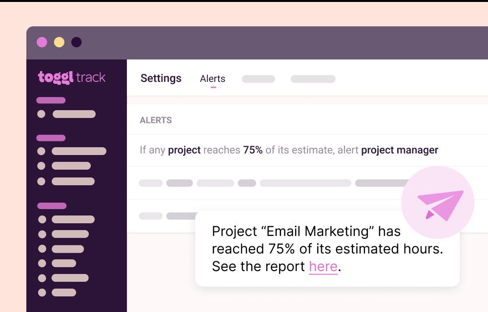 Project Estimates & Alerts