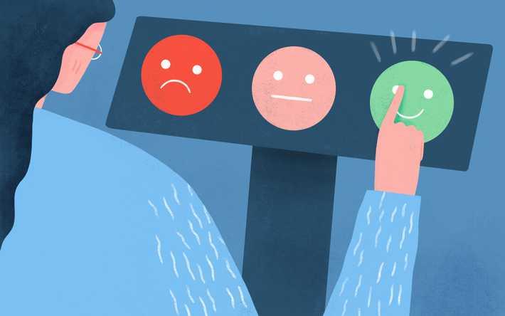 Illustration of employee giving feedback