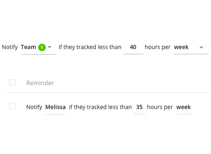 Setting timesheet tracking reminders in Toggl Track Premium